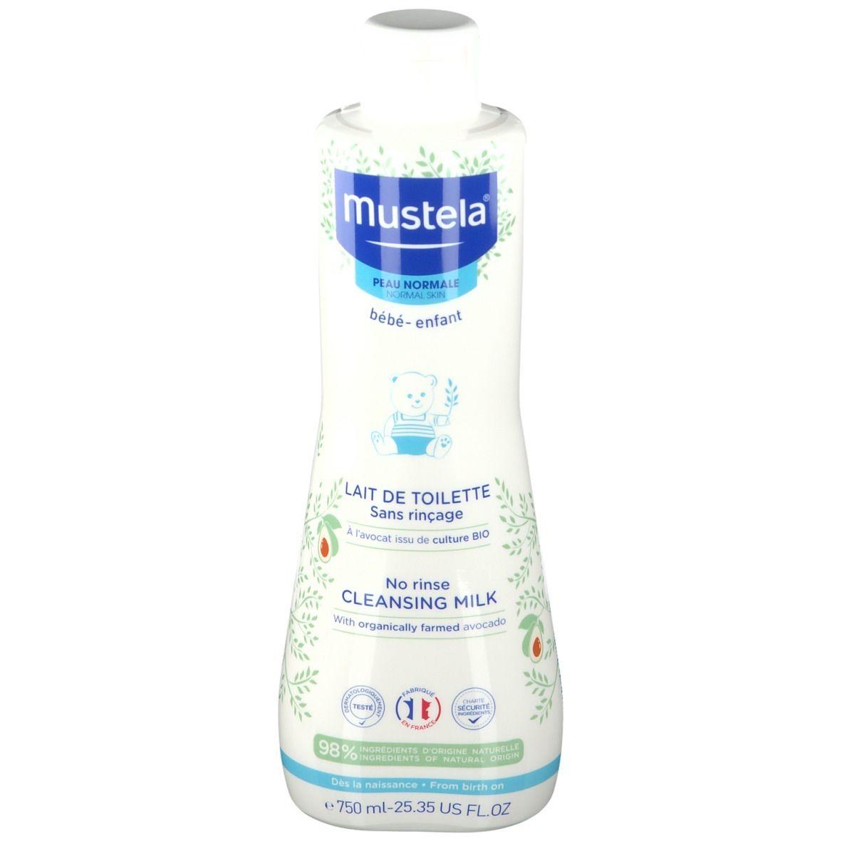 mustela® Bébé Enfant Lait de Toilette Sans Rinçage Peau Normale ml lait démaquillant