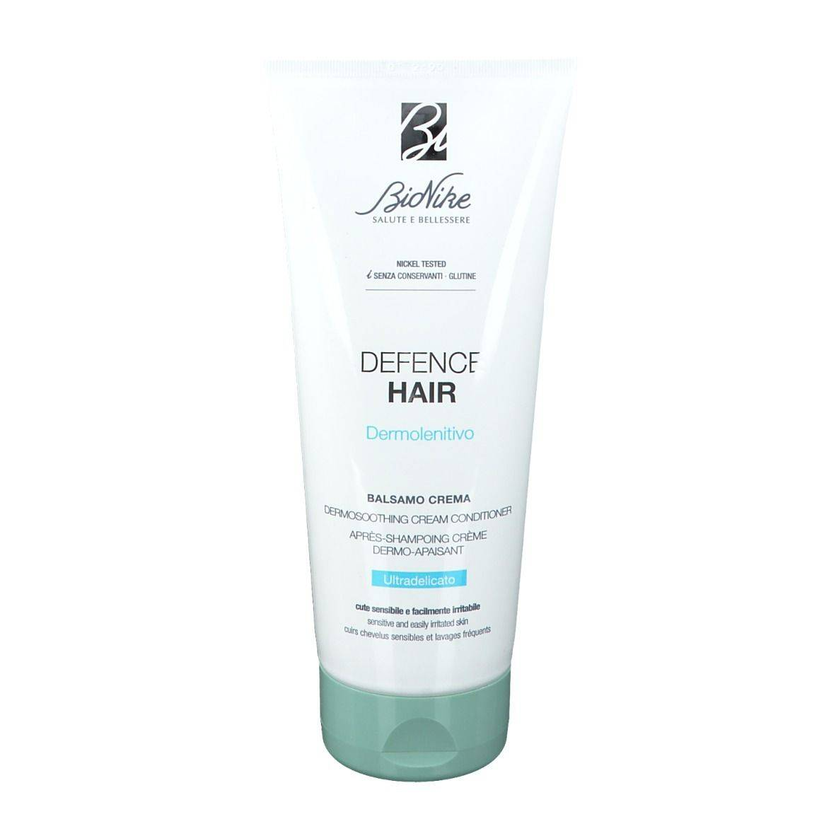 BioNike DEFENCE HAIR Après-Shampoing crème Dermo-apaisant ultra-doux ml shampooing
