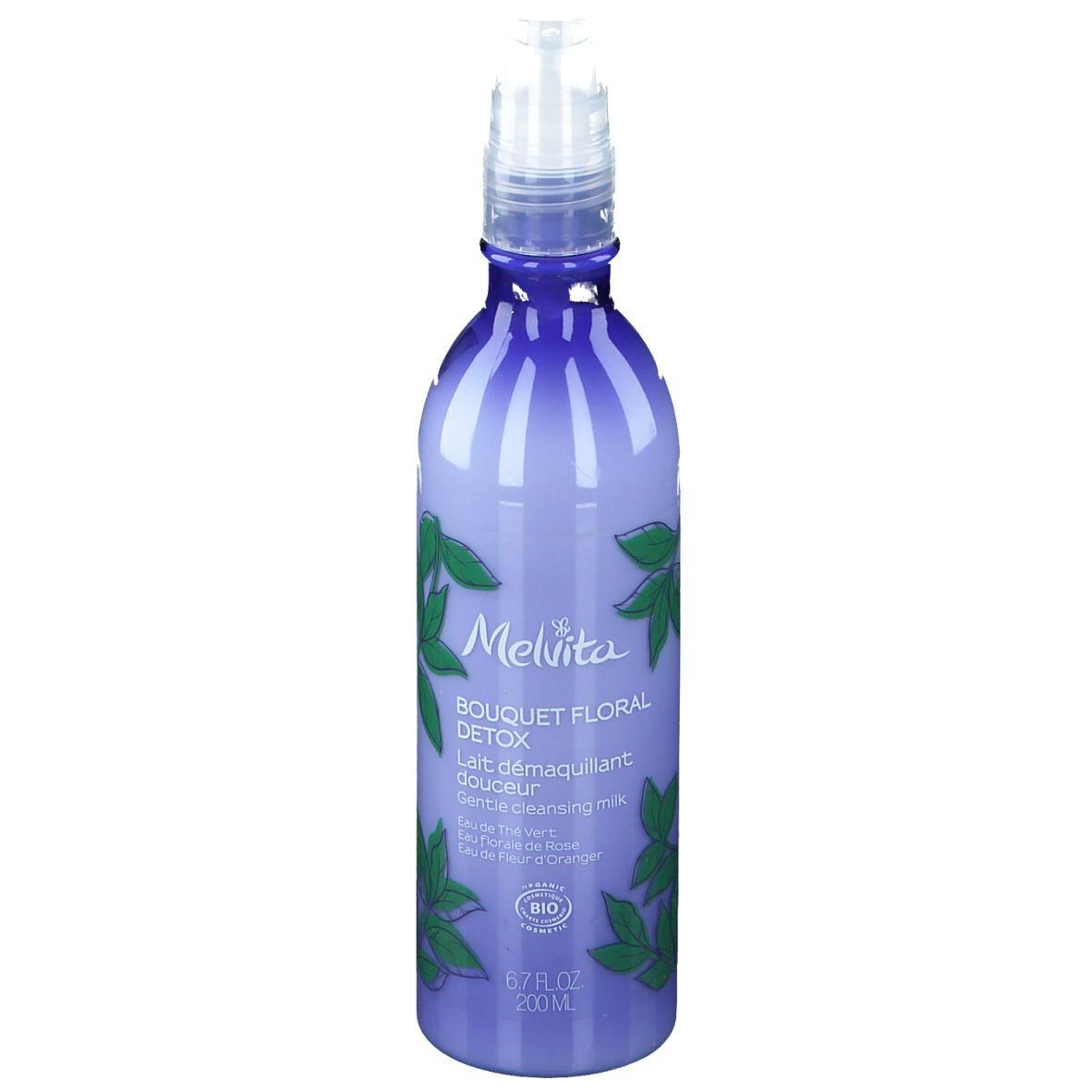 Melvita Bouquet Floral Detox Lait démaquillant douceur Bio Visage ml lait pour le visage