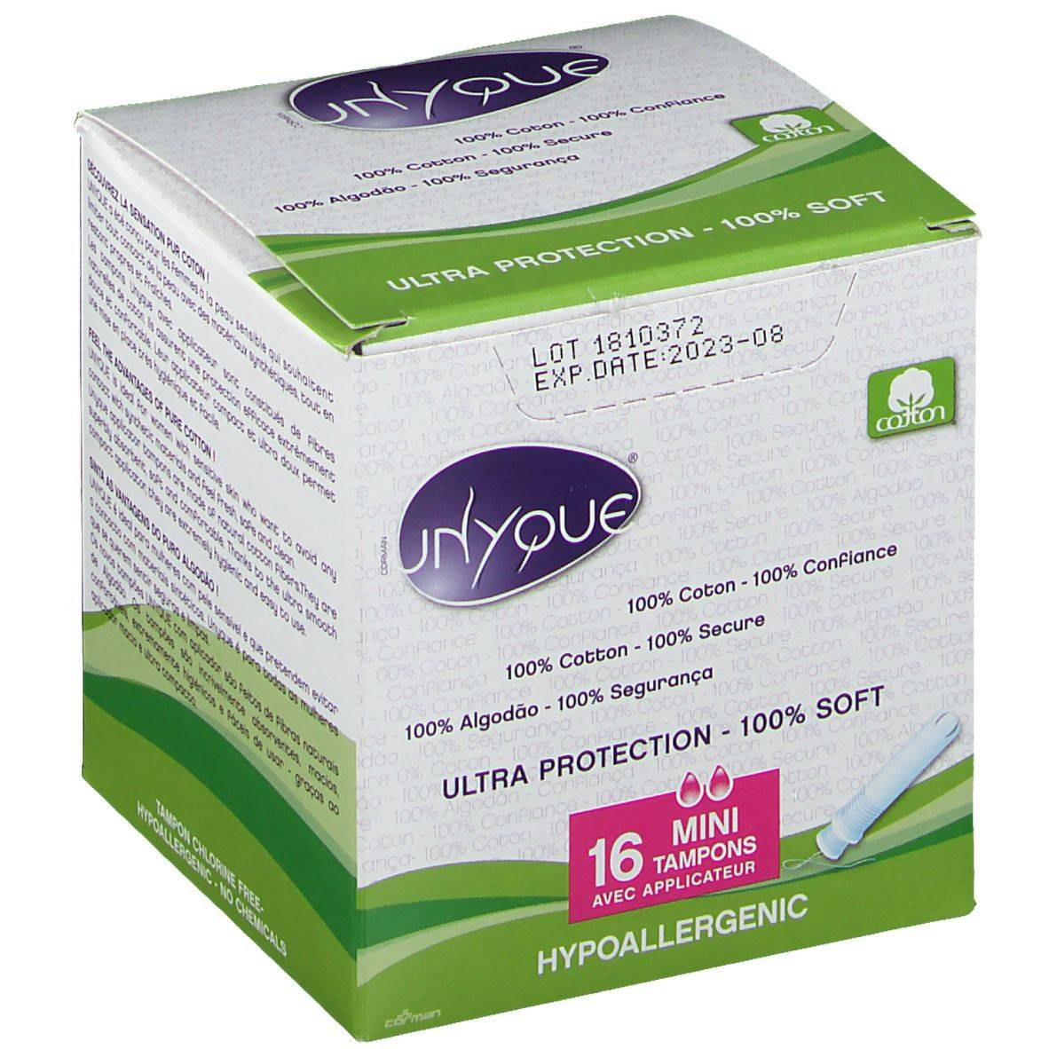 UNYQUE® Ultra Protection Mini Tampons avec Applicateur pc(s) tampon(s)