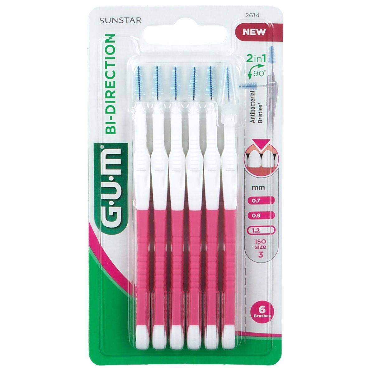 GUM® Bi-Direction Brossette conique fine 1,2 mm pc(s) brosse(s) à dents