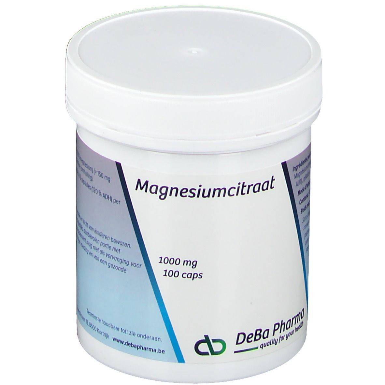 Deba Pharma Deba Citrate de Magnésium 1000 mg pc(s) capsule(s)