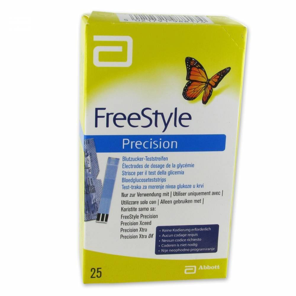 Abbott Freedom FreeStyle Precision Électrodes pc(s) bande(s) de test