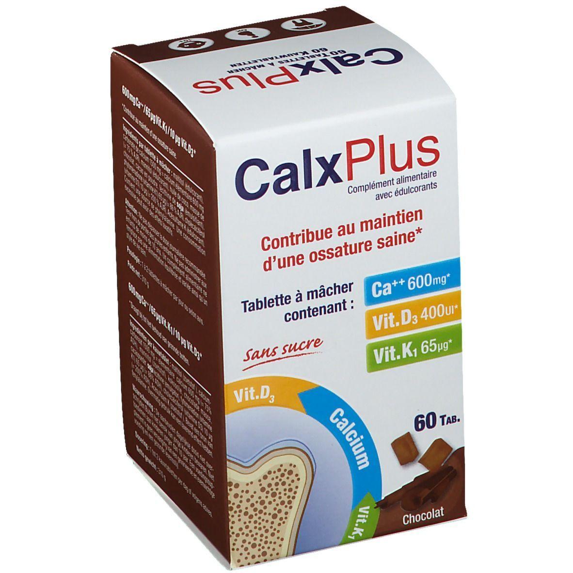 CalxPlus Calx-Plus Bonbon Chocolat Sans Sucre pc(s) comprimé(s)