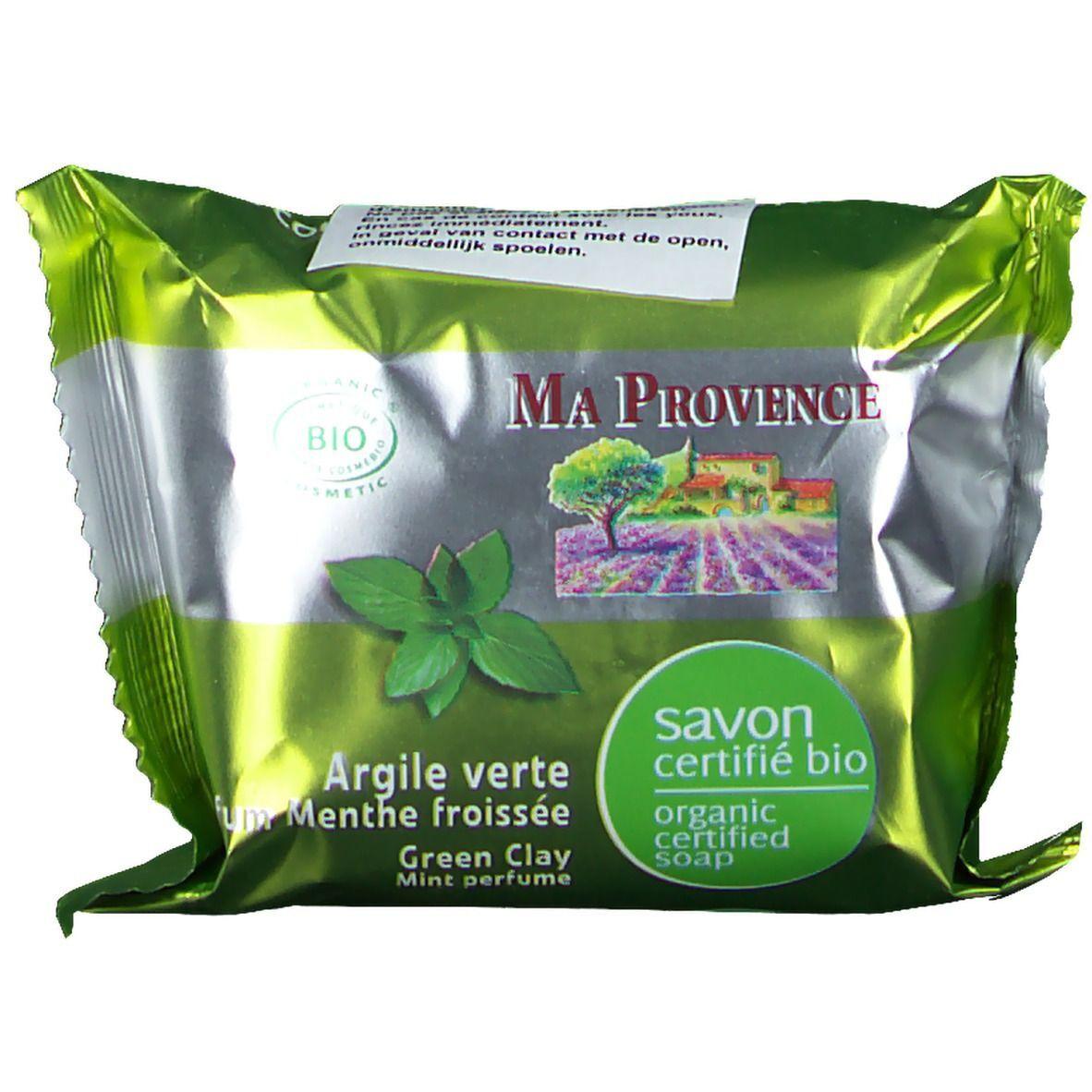 Ma Provence® Savon bio à l'Argile verte naturelle parfum Menthe froissée g savon