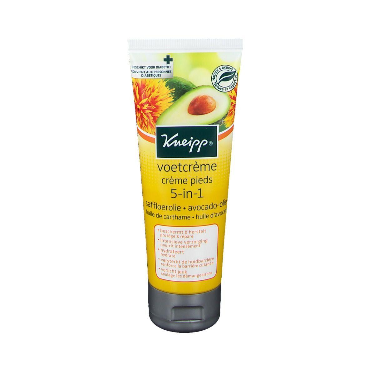 Kneipp® Crème pieds 5 en 1 Huile de carthame - Huile d'avocat ml crème de pieds