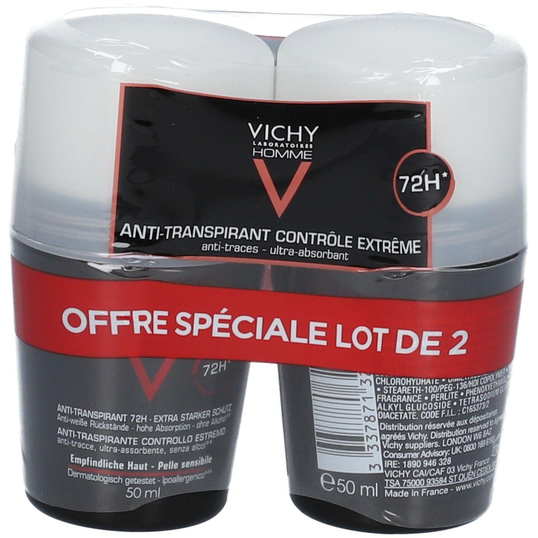 VICHY Homme déodorant antitranspirant contrôle extrême peaux sensibles ml Roller