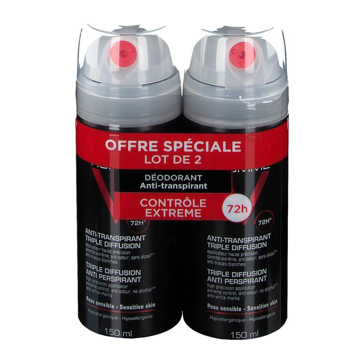 VICHY Homme déodorant antitranspirant triple diffusion ml déodorant