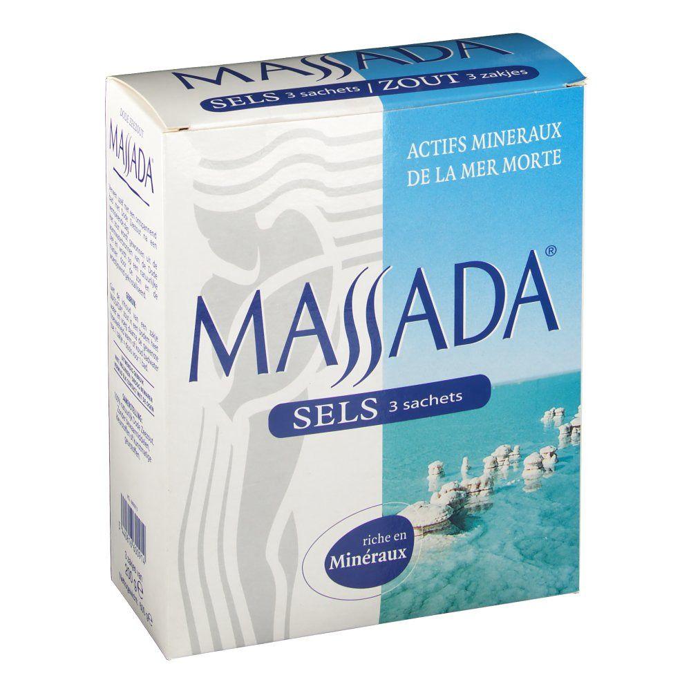 Massada® Sels Mer Morte 3 Sachèts g sel de bain