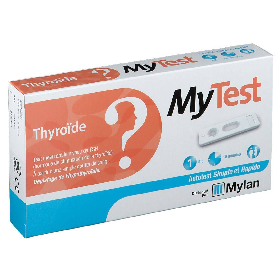MyTest Thyroïde Test pc(s) test(s)