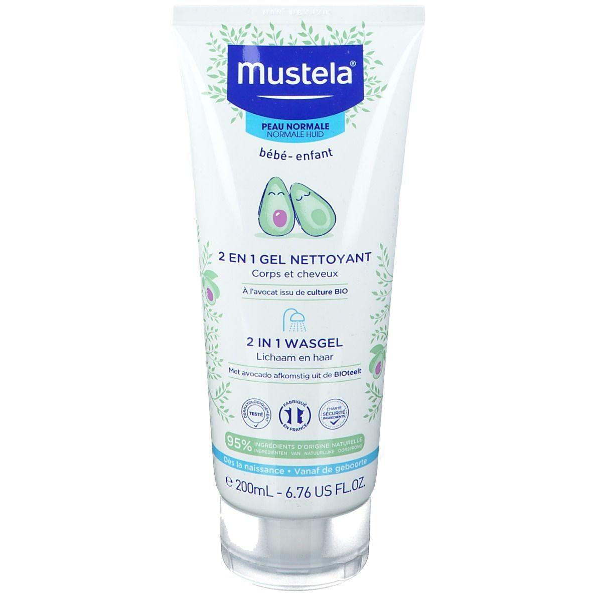 mustela® Bébé Enfant Gel Nettoyant 2 en 1 Peau Normale ml gel nettoyant