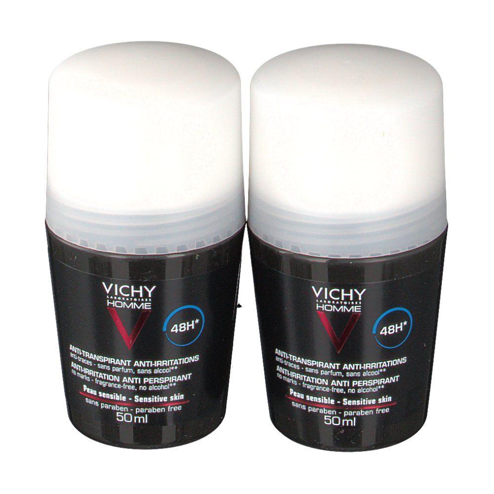 VICHY HOMME Déodorant antitranspirant 48h peaux sensibles ml Roller