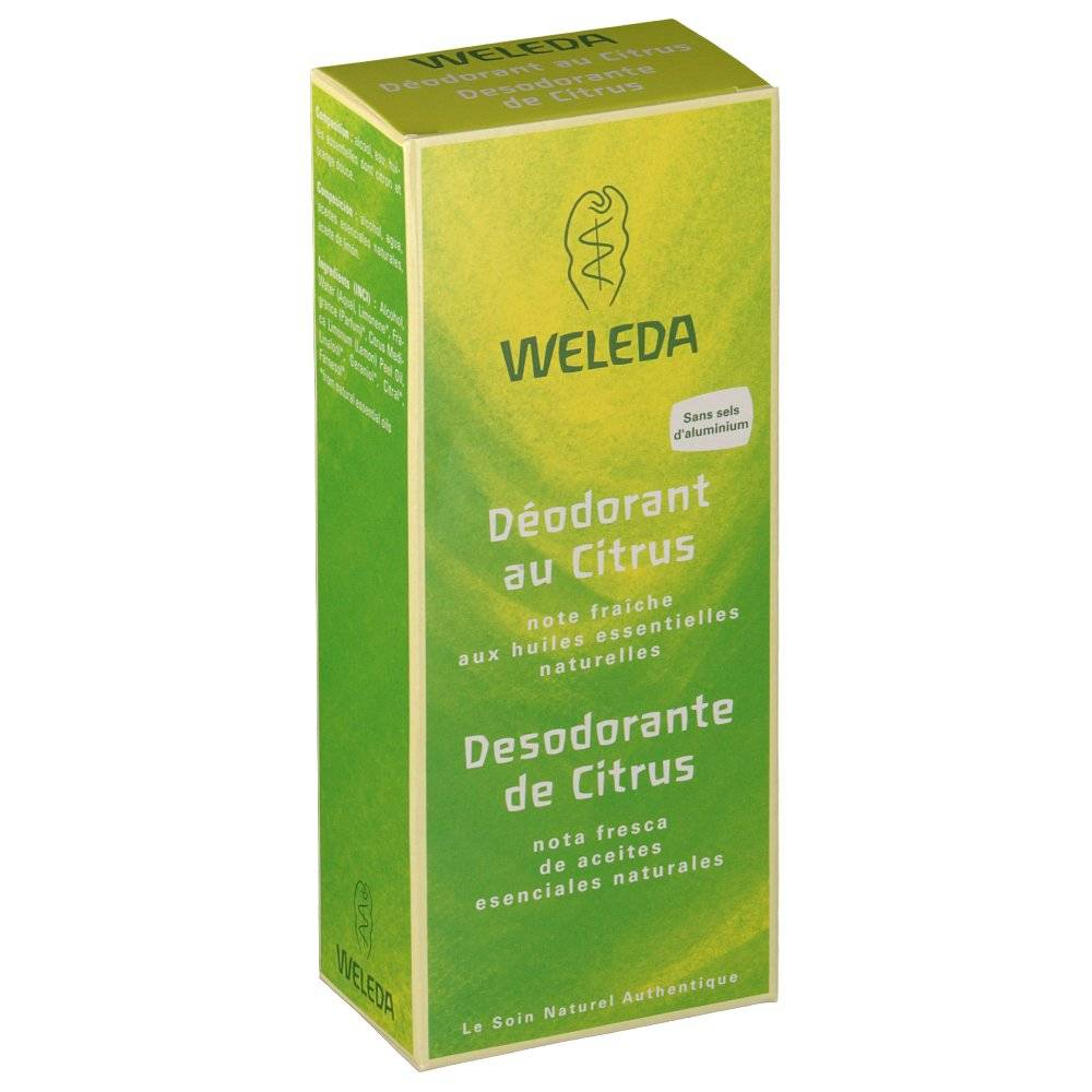 Weleda CITRUS DEODORANT VAPORISATEUR 100ML X2 ml déodorant