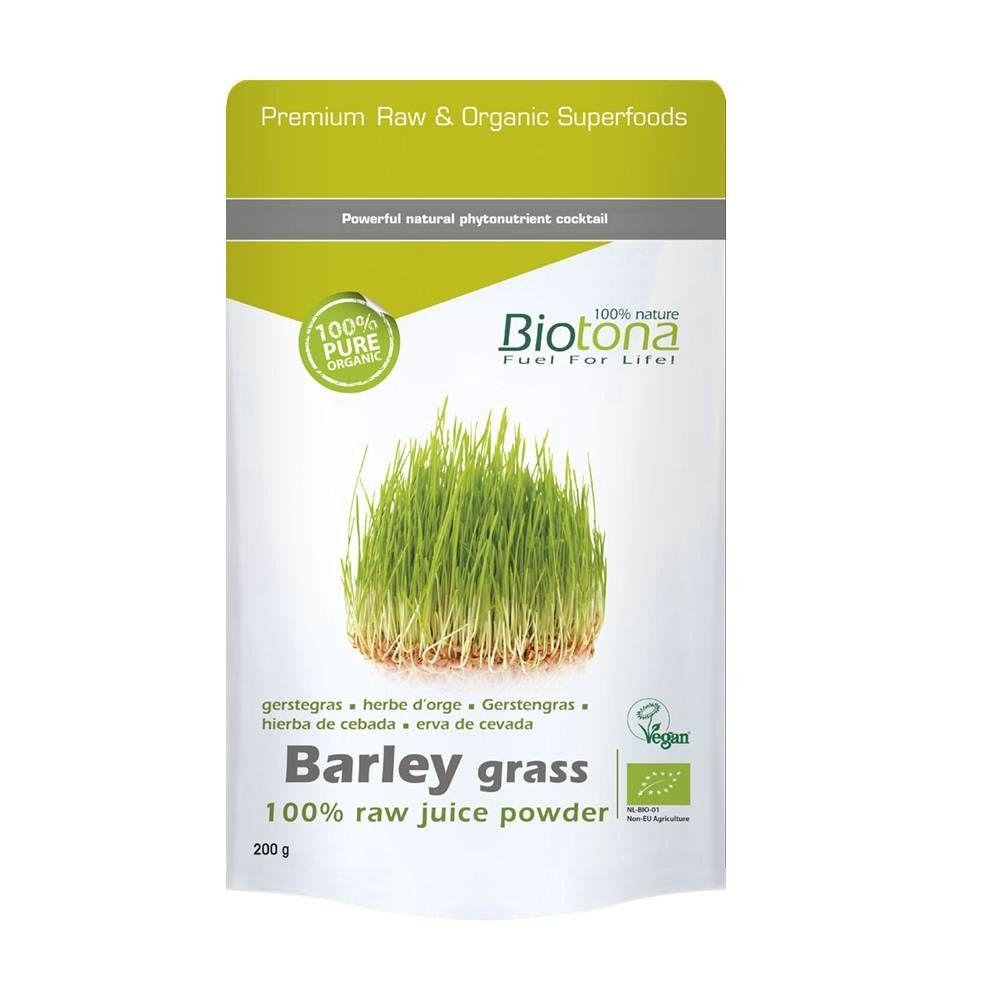 Biotona Poudre de jus d'herbe d'orge Bio g poudre
