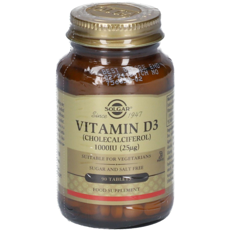 Solgar® Vitamin D-3 25 µg/1000 IU pc(s) comprimé(s)