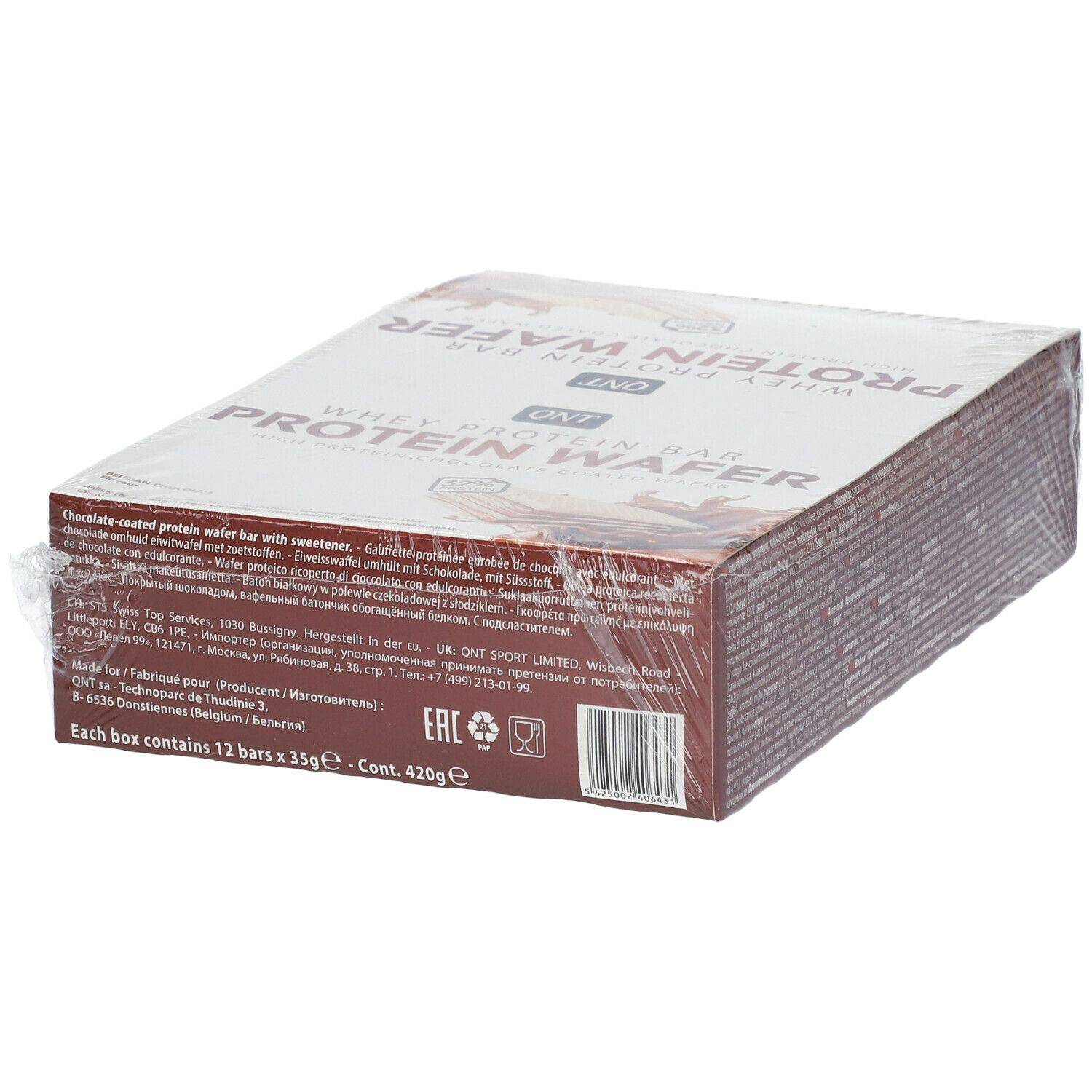 QNT Protein Wafer Barre Chocolat g Barre