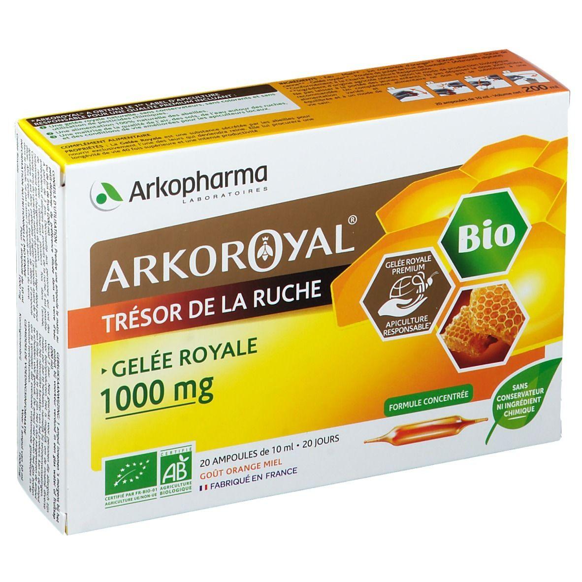Arkopharma Arkoroyal® Gelée Royale Bio 1000 mg ml ampoule(s) buvable(s)