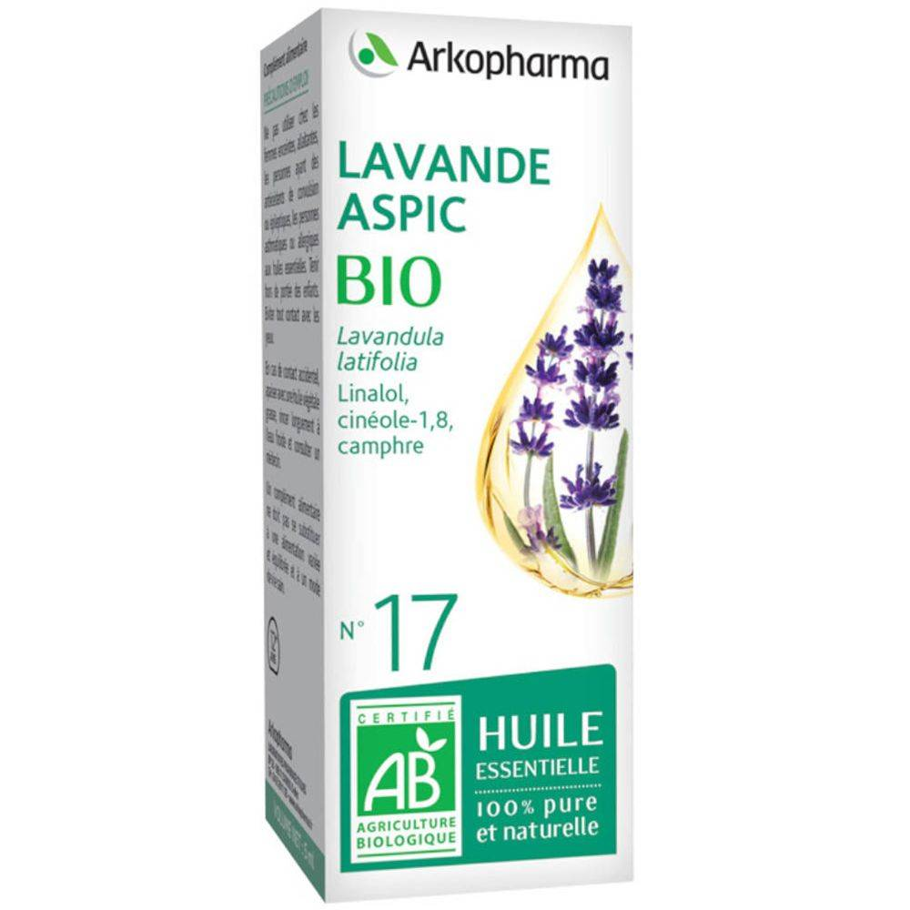 Akropharma ARKOPHARMA N°17 Huile Essentielle de Lavande Aspic Bio ml solution(s)