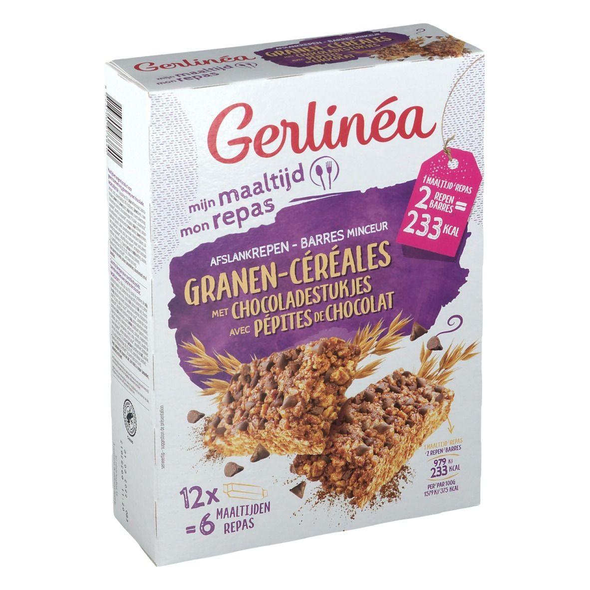 Gerlinéa Mon Repas Barres Céréales avec Pépites de Chocolat g Barre