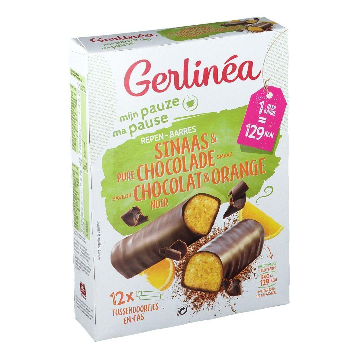Gerlinéa Ma Pause Barres Orange & Chocolat Noir g Barre