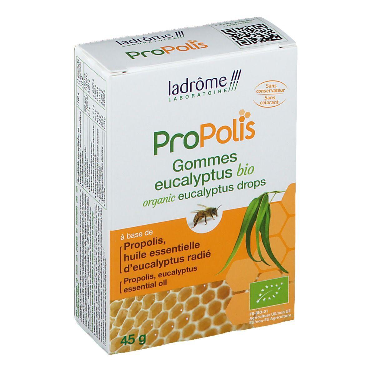 ladrôme Laboratoire ProPolis Gommes propolis et eucalyptus bio g pastille(s)
