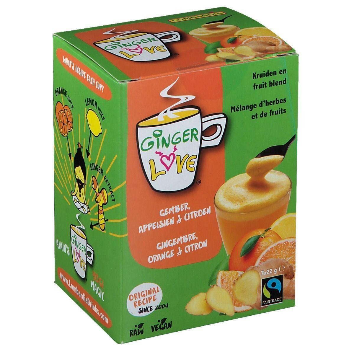 GingerLove Bio Thé Gingembre, Orange & Citron pc(s) sachet(s) filtre(s)