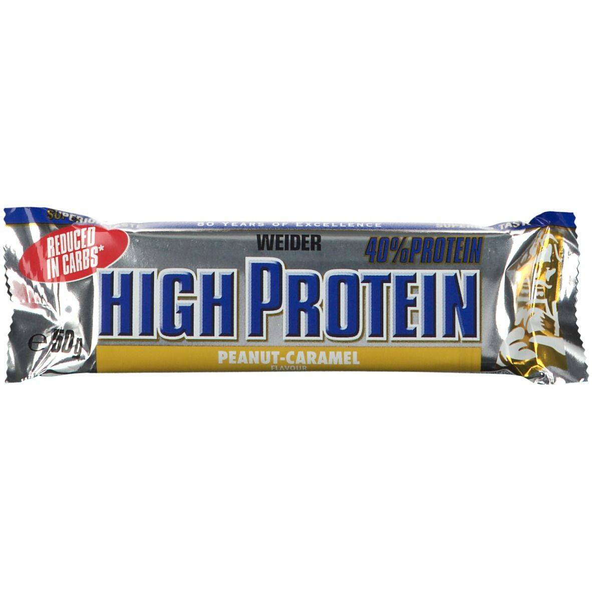 WEIDER® LOW CARB HIGH PROTEIN BAR CACAHUÈTE - CARAMEL g Barre
