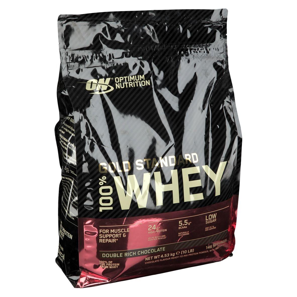 Optimum Nutrition 100 % Whey Gold Standard Double Chocolat Riche g poudre