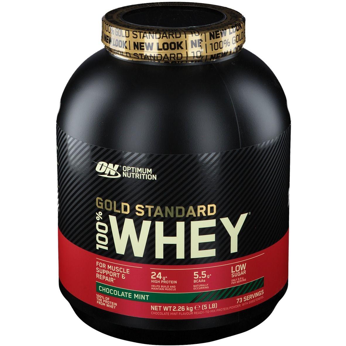 Optimum Nutrition 100 % Whey Gold Standard, Chocolat-Menthe g poudre