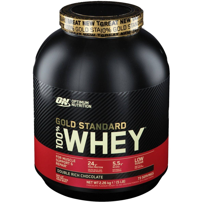 Optimum Nutrition 100 % Whey Gold Standard, Double Chocolat riche g poudre