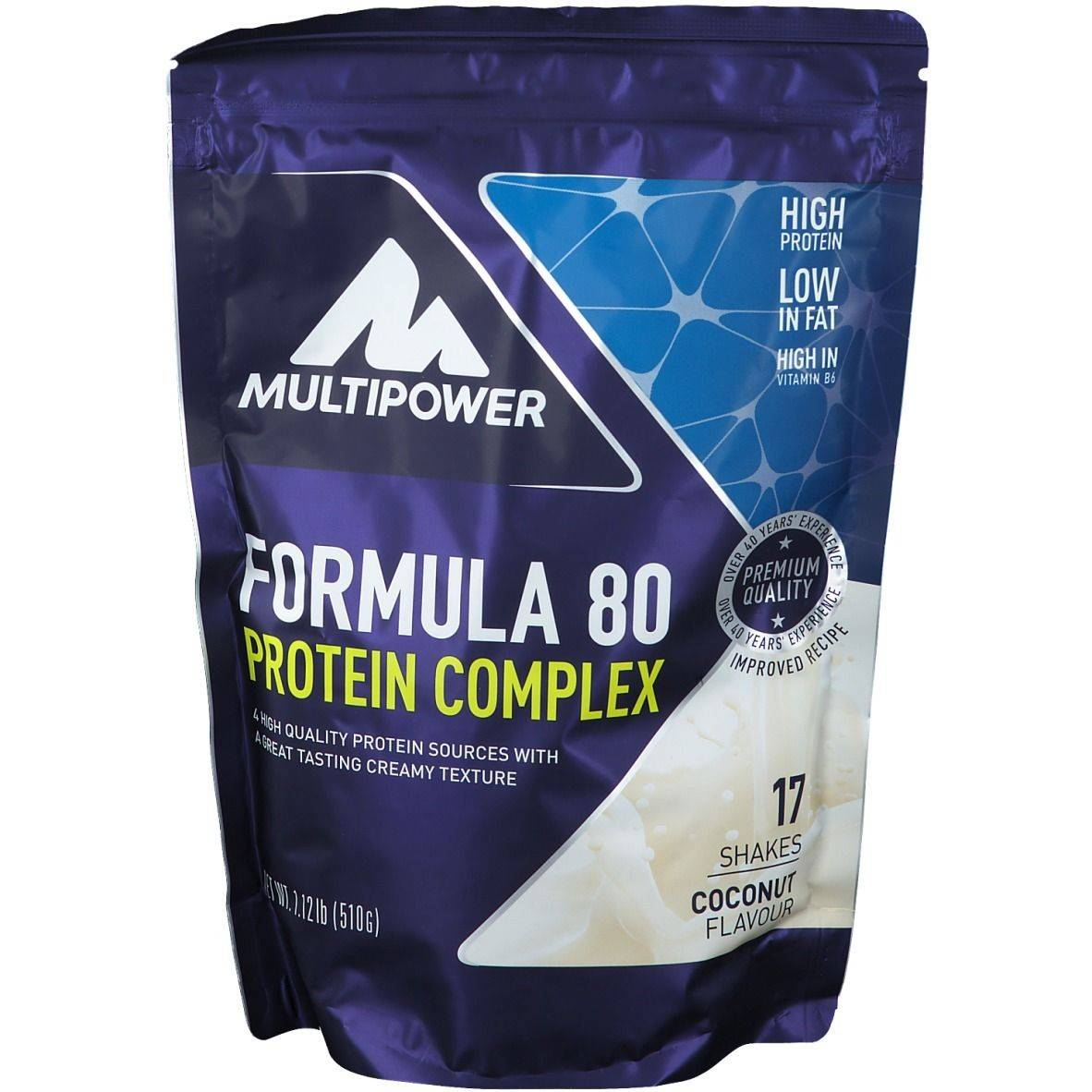 Multipower Formula 80 Protein Complex, noix de coco g poudre