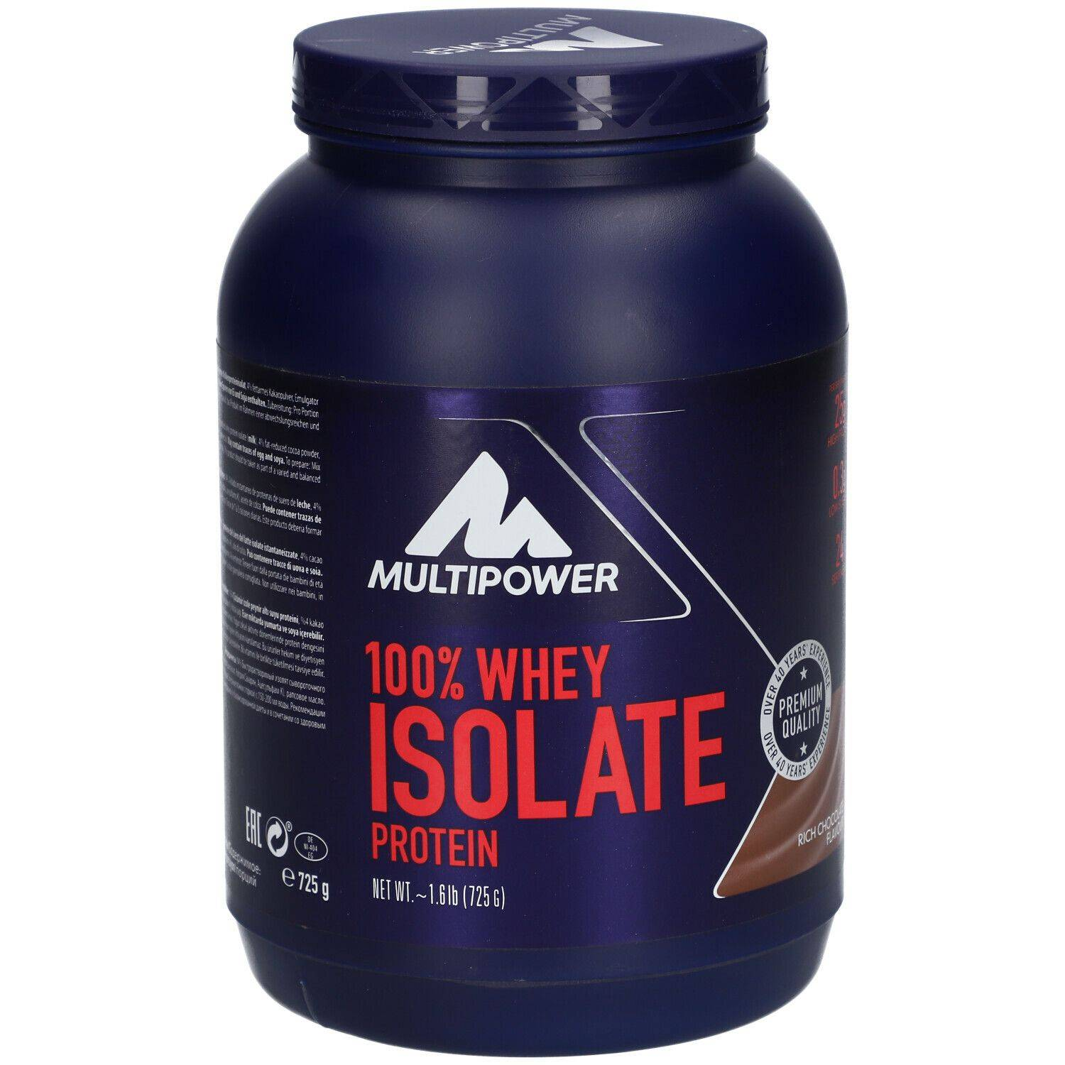 Multipower 100% Whey Isolat Protei Chocolat riche g poudre