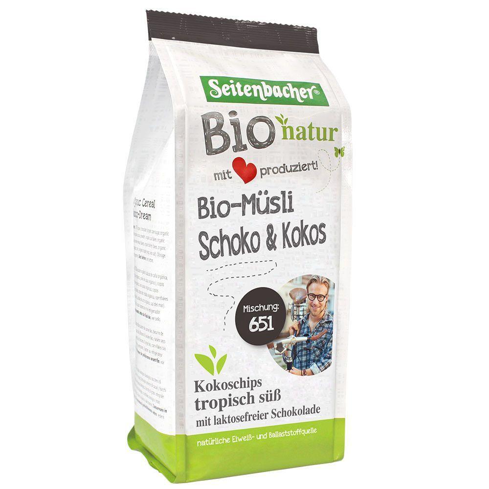 Seitenbacher® Bio Muesli Chocolat & Noix de coco g céréales