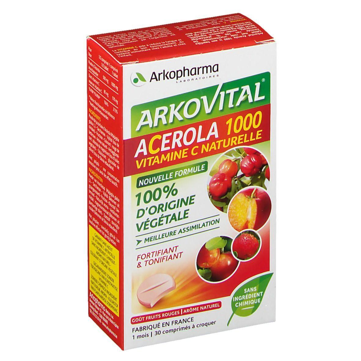 Arkovital® Arkopharma Arkovital® Acérola 1000 vitamine C pc(s) comprimé(s) à croquer