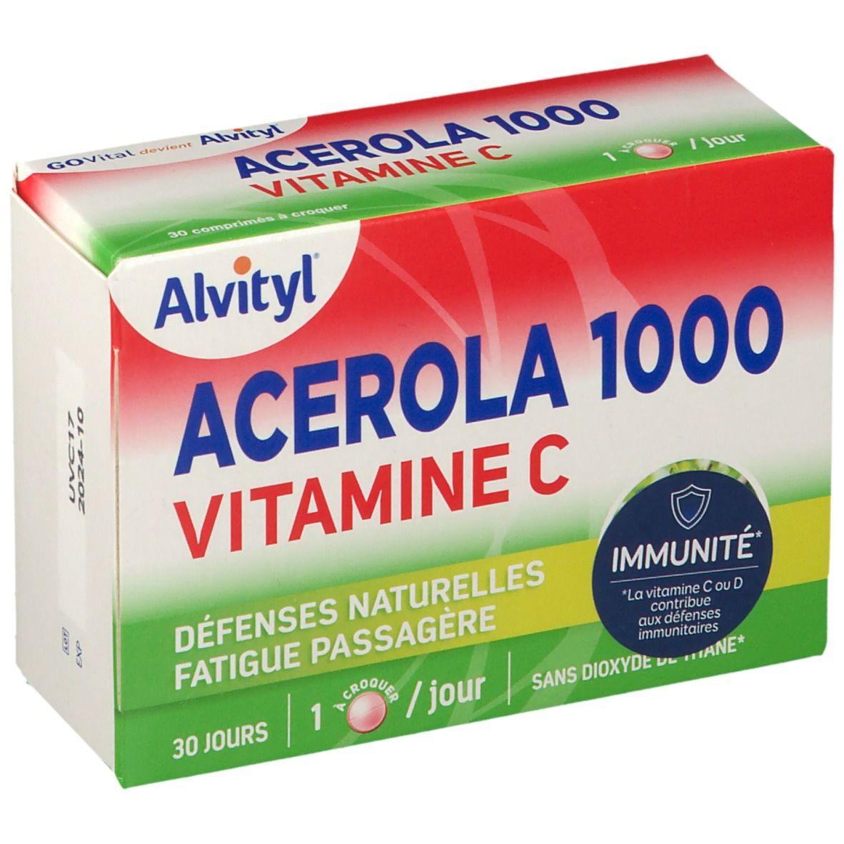 GOVital Acérola 1000 vitamine C pc(s) comprimé(s) à croquer