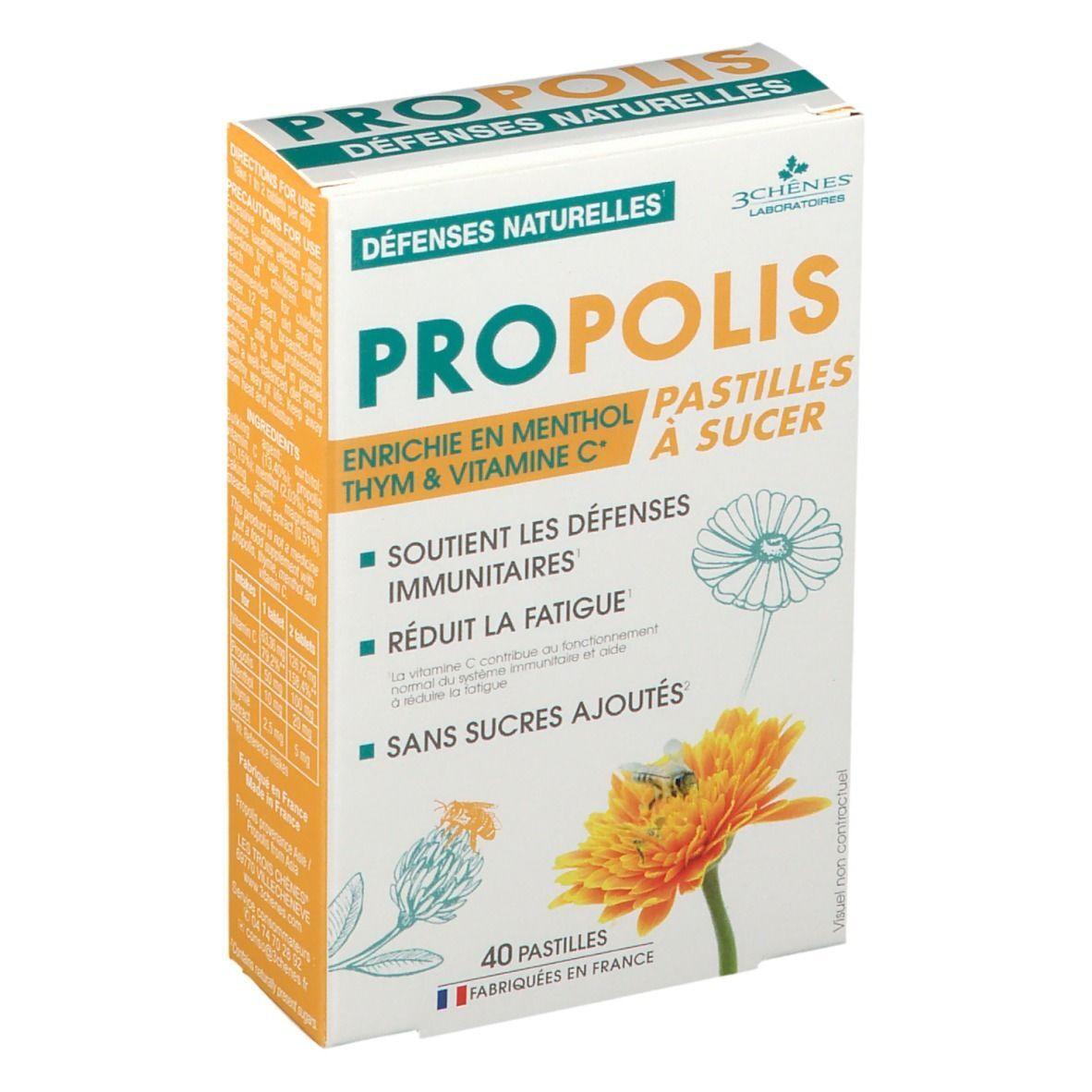 Propolis Les 3 Chênes® propolis pastilles adoucissantes et calmantes pc(s) pastille(s)