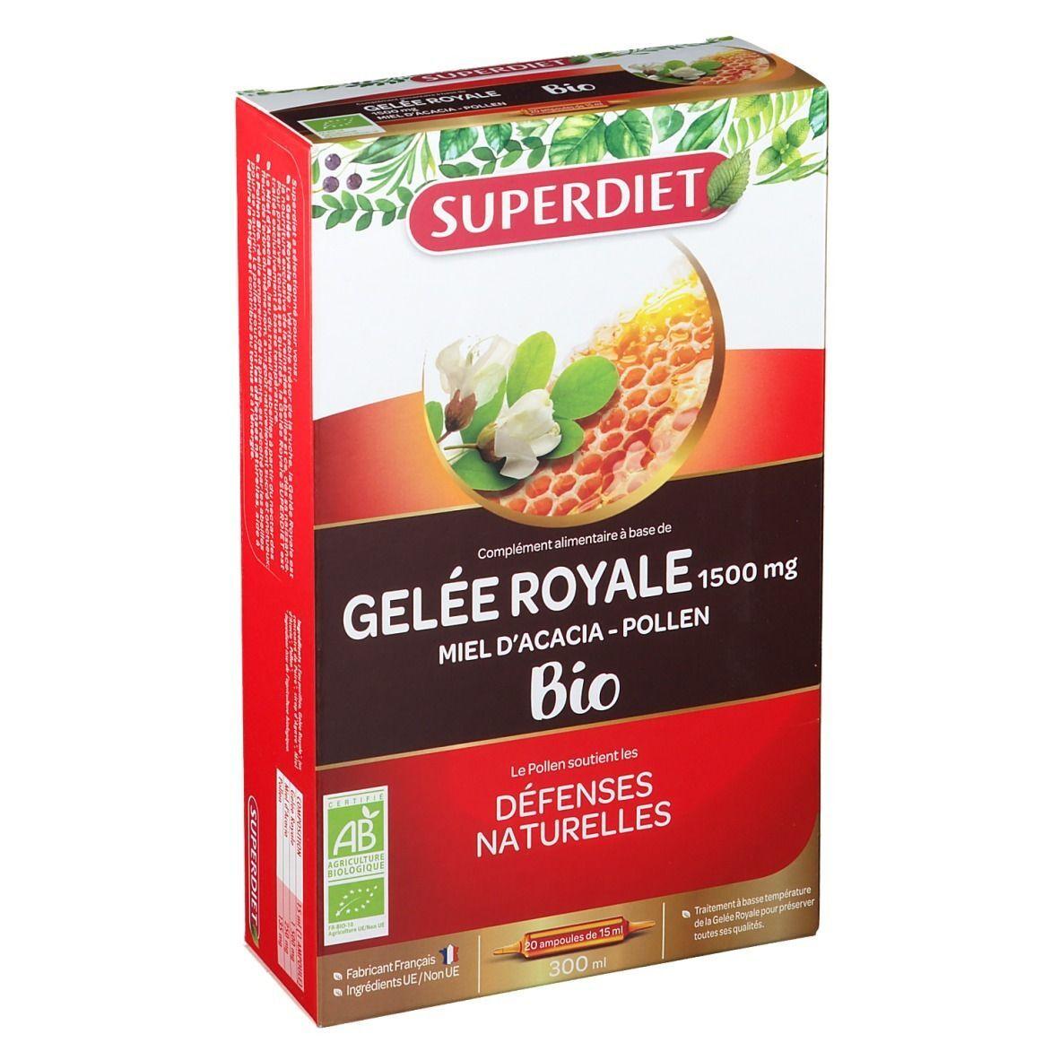 Super Diet Gelée Royale Miel Pollen Bio ml ampoule(s) buvable(s)
