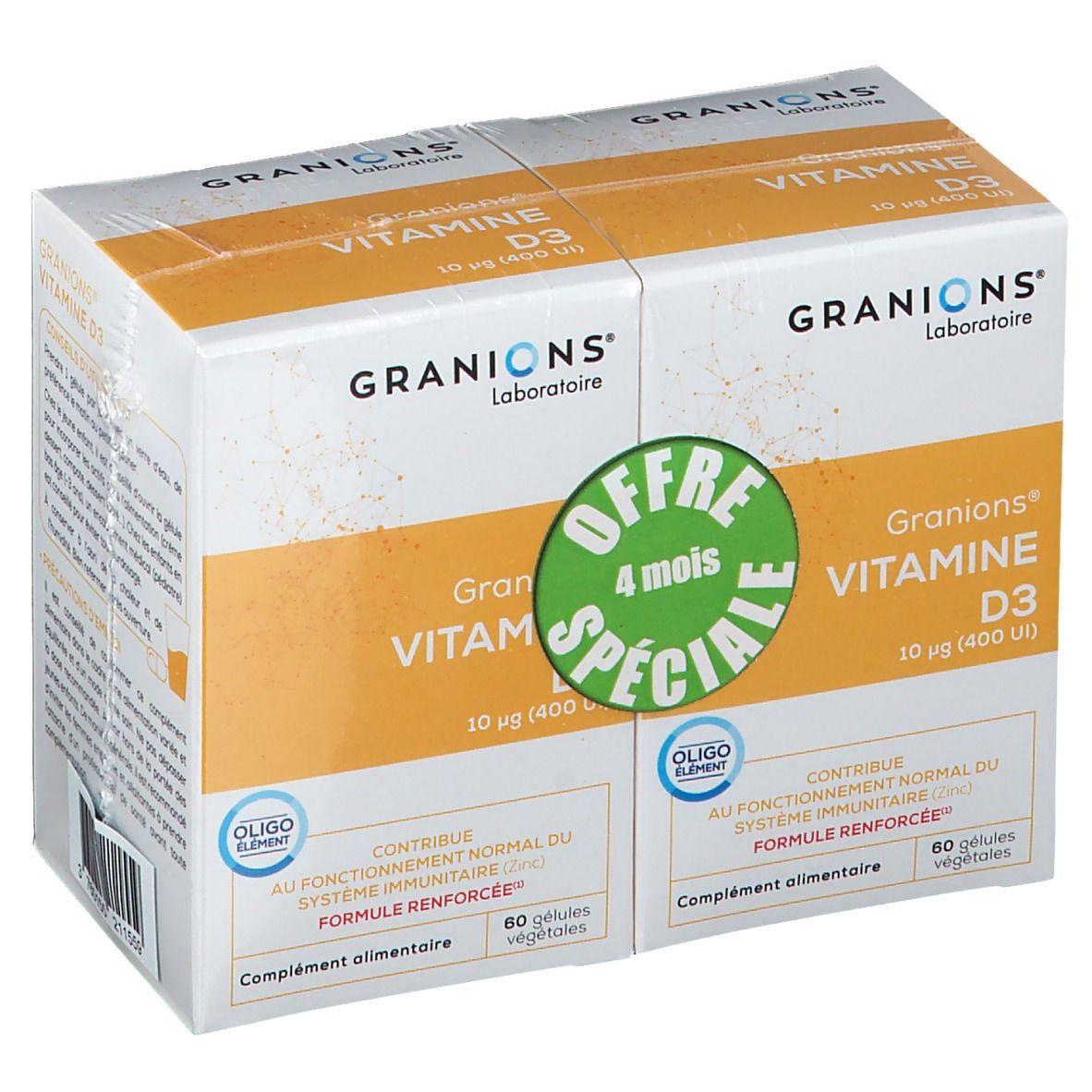 Laboratoire des Granions® Vitamine D3 10 µg pc(s) capsule(s)