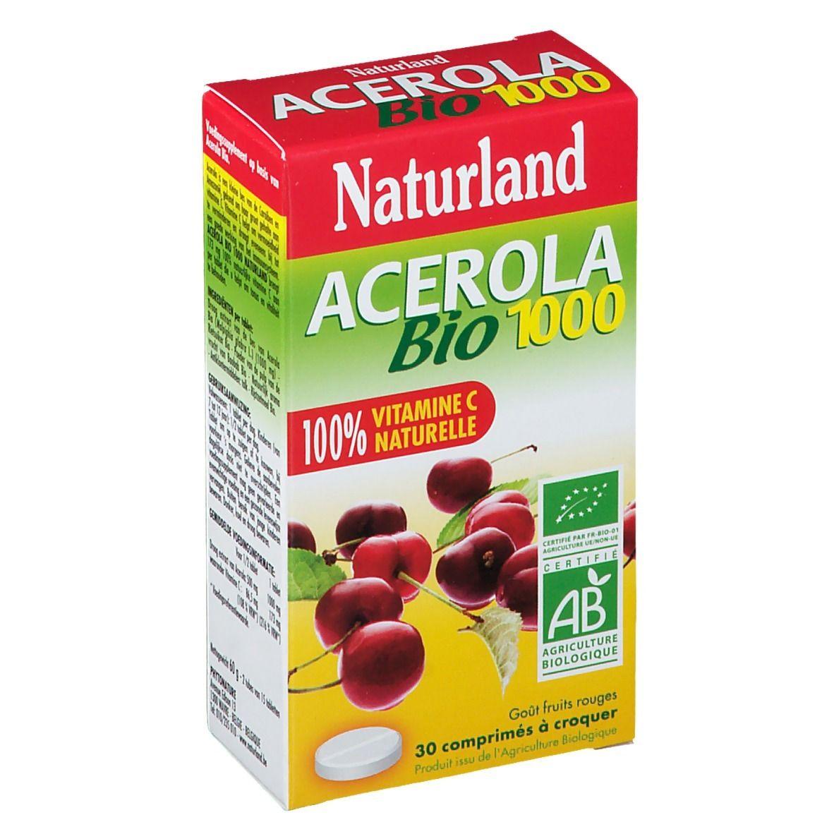 Naturland ACEROLA Bio 1000 pc(s) comprimé(s)