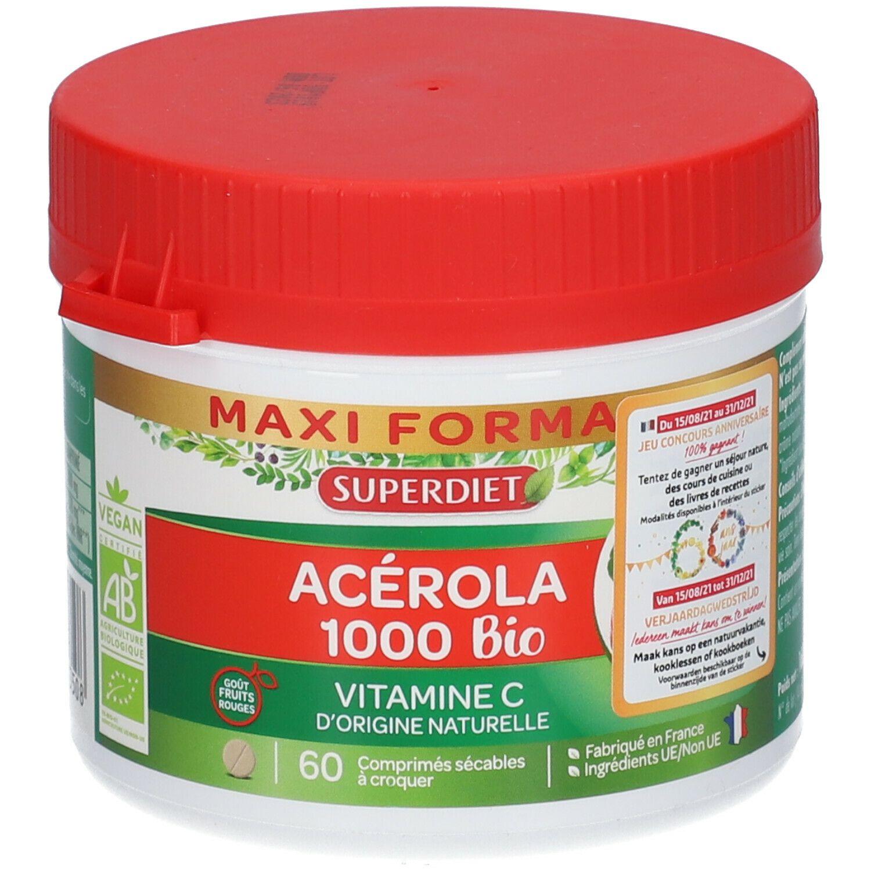 SUPERDIET Acérola 1000 Bio pc(s) comprimé(s) à croquer
