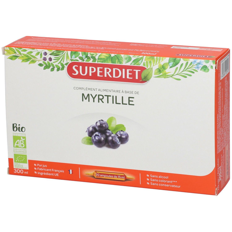 SUPERDIET Myrtille Bio Ampoule ml ampoule(s)