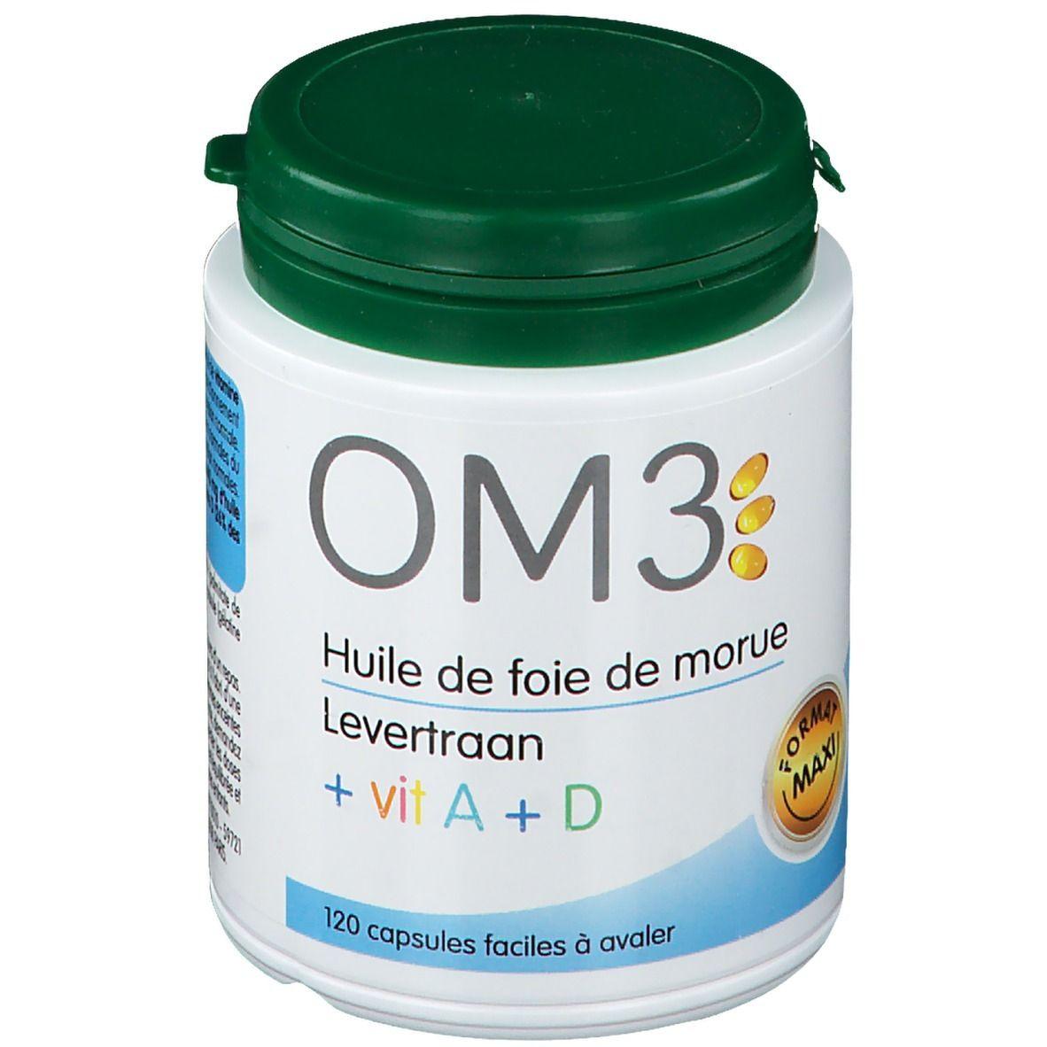 OM3 Huile de Foie de Morue Vit A+D, Capsule pc(s) capsule(s)