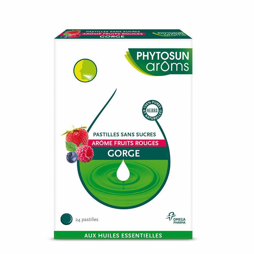 Phytosun arôms Phytosun Aroms gorge pastilles sans sucre Arôme fruits rouges pc(s) pastille(s)