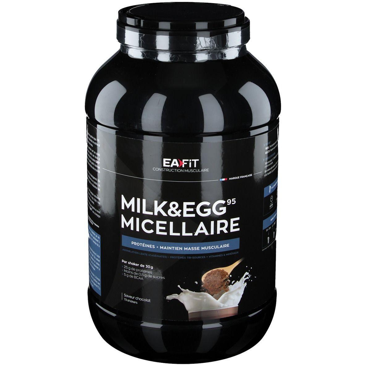 Eafit EA Fit Proteines Milk & Eggs 95 micellaire chocolat g poudre