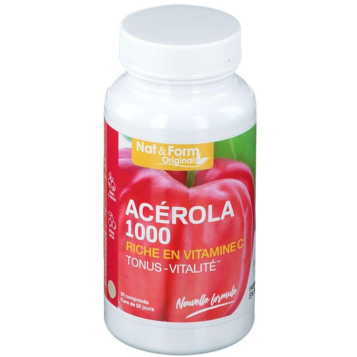 Nat & Form Acérola 1000 Bio pc(s) comprimé(s)