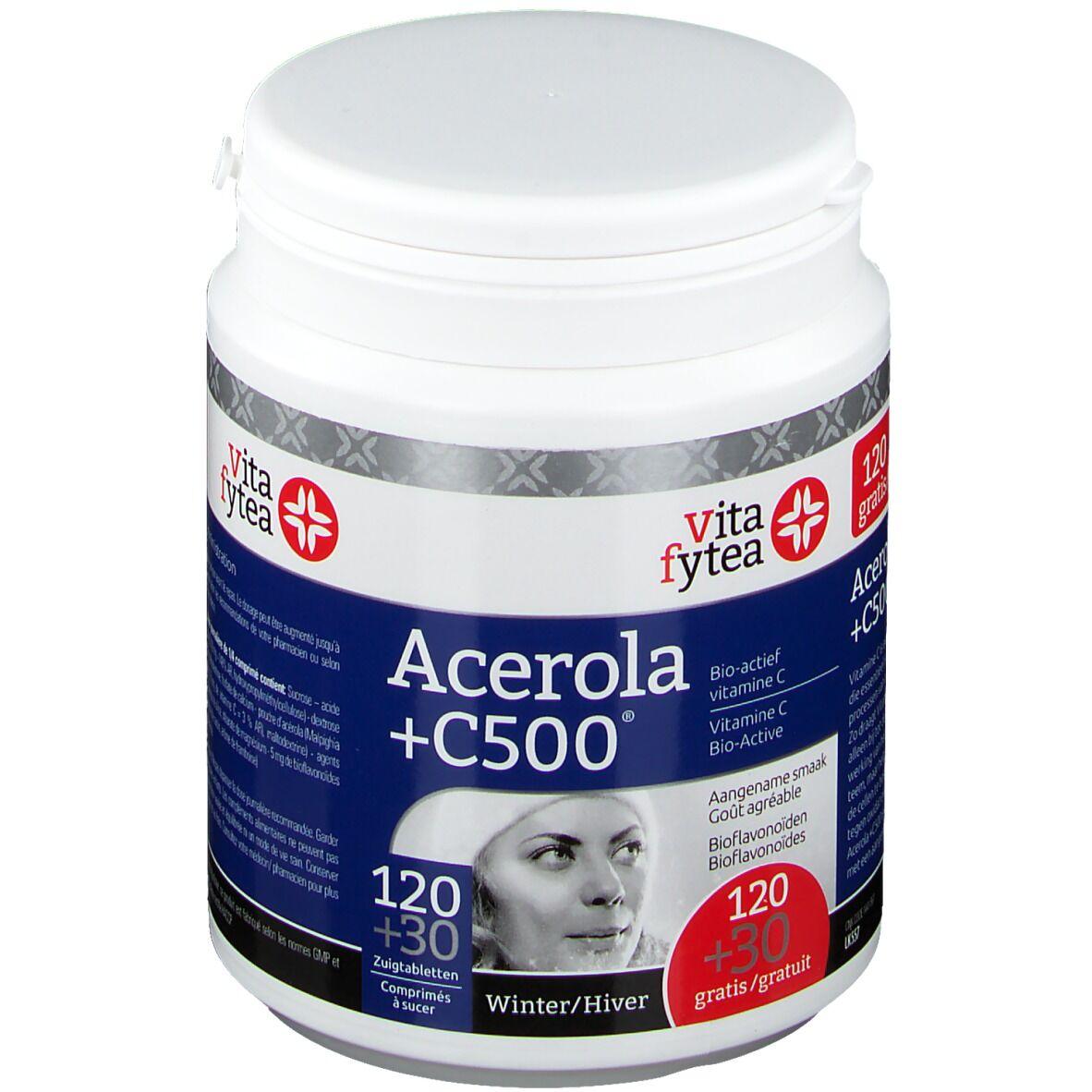 TeamEtixx Vitafytea Acerola +C500 pc(s) comprimé(s) à sucer