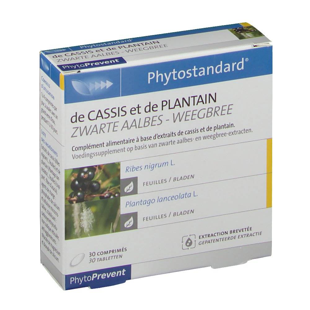 PilejeBenelux Phytostandard Cassis - Plantain pc(s) comprimé(s)