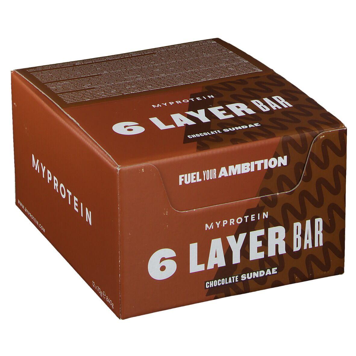 MyProtein® 6 Layer Bar Chocolate Sundae g barre(s)