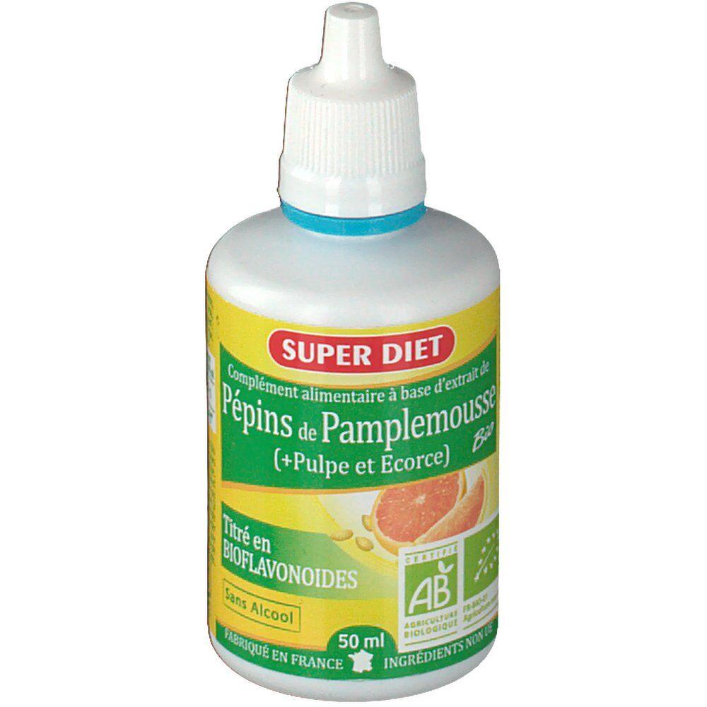 Super Diet Pépins de Pamplemousse (+Pulpe et Ecorce) 400 mg Bio ml fluide