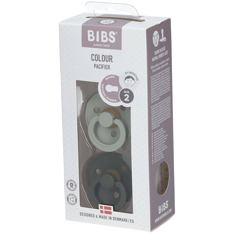 BIBS® BIBS COULEUR Tétines Sauge - Vert 6 - 18 mois Taille 2 pc(s) Tétine(s)